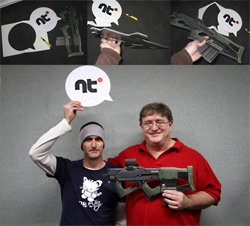 pushBAK and gaben( leri greer and gabe newell photo)